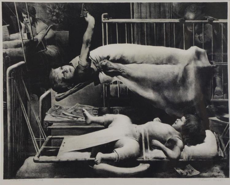 RIGGS, Robert. Lithograph. Children's Ward.