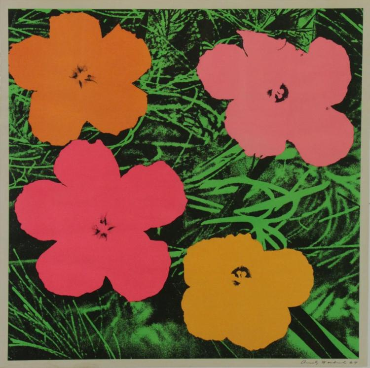 WARHOL, Andy. Offset Color Lithograph