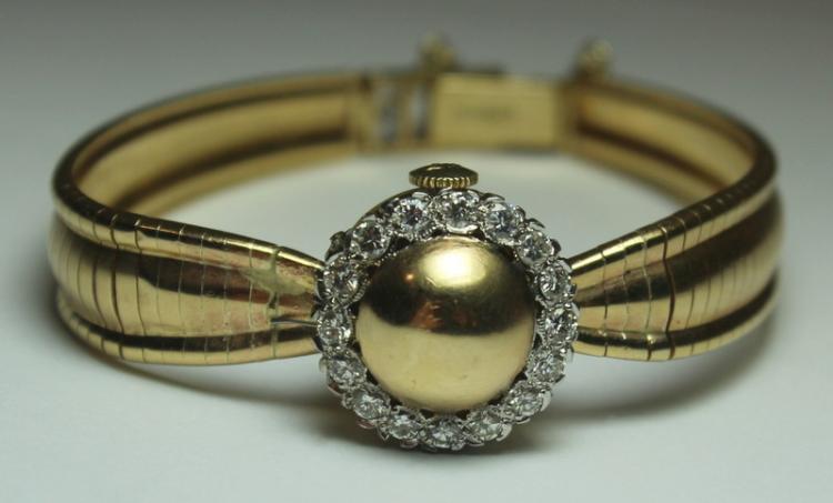 JEWELRY. Ladies Mathey-Tissot 14kt Gold Watch.