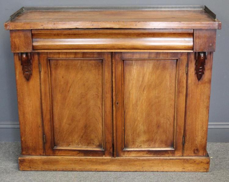 Victorian 1 Drawer Over 2 Door Cabinet.