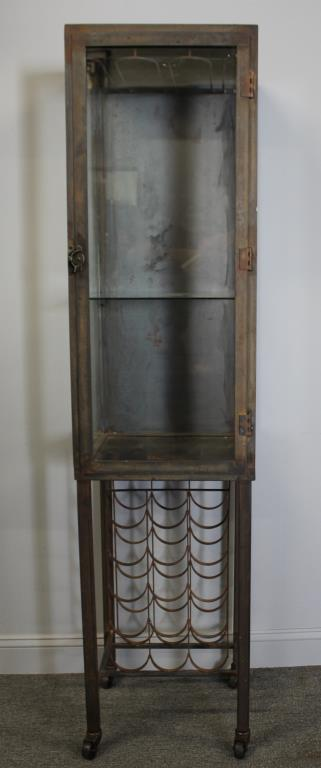kitchen cabinets 72 vintage polished steel industrial style vitrine 19954