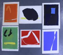 Adja Yunkers. Lot of 6 Abstract Lithographs. (P12)