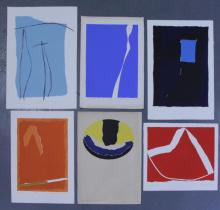 Adja Yunkers. Lot of 6 Abstract Lithographs. (P14)