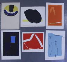 Adja Yunkers. Lot of 6 Abstract Lithographs. (P15)