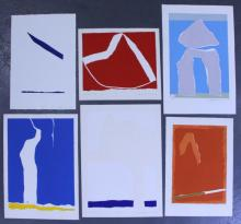 Adja Yunkers. Lot of 6 Abstract Lithographs. (P20)