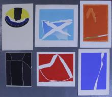 Adja Yunkers. Lot of 6 Abstract Lithographs. (P21)