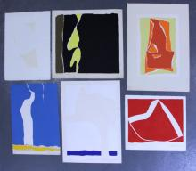 Adja Yunkers. Lot of 6 Abstract Lithographs. (P23)