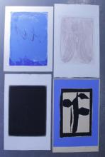 Adja Yunkers. Lot of 4 Abstract Prints. 2 Intaglio