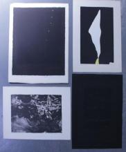 Adja Yunkers. Lot of 4 Abstract Prints. 1 Intaglio