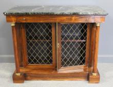 Regency Rosewood 1 Drawer, 2 Door Marbletop