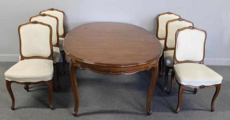Louis XV Style Fruitwood Dining Table And 6