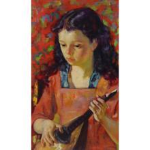 Luigi Corbellini. Signed oil On Canvas Young Girl.