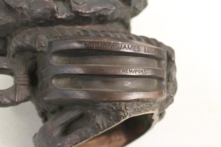 Noble Signed Bronze Bust Of Captain John Logan
