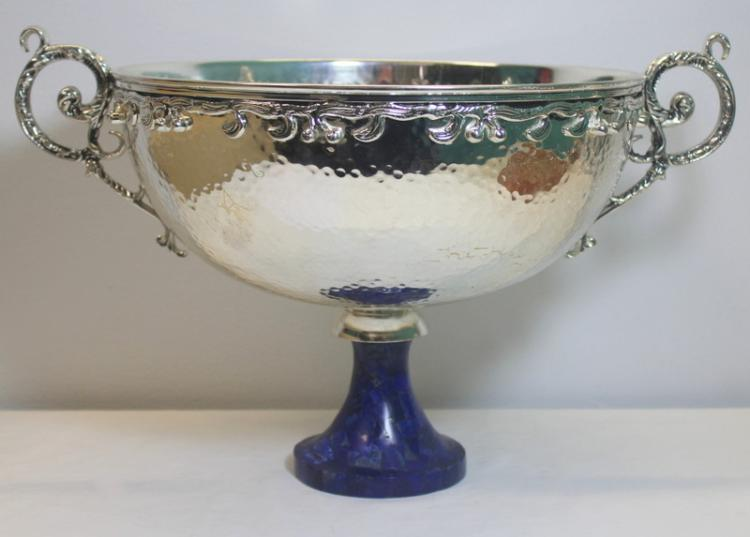 Silver plated handhammered silver plate center for Asian furniture farmingdale ny