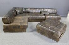 De Sede Leather Upholstered Sectional Sofa.