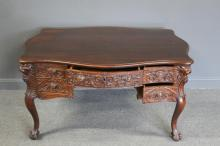 R.J.Horner Signed and Highly Carved Mahogany