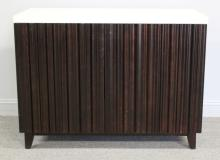 BAKER. Barbara Barry Lacquered and Fluted Cabinet.