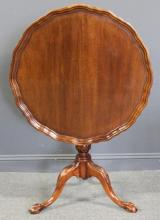 Chippendale Style Mahogany Tilt Top Table.