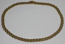 JEWELRY. Italian 18kt Gold Choker Length Necklace.