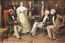 YOHN, Frederick C. Oil on Canvas Illustration.