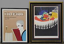 Two French Color Lithographs.