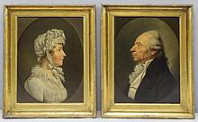 Pair of Early 19th Century Oil on Canvas Portraits