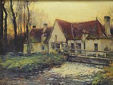 KOROCHANSKY, Michel. Oil on Canvas. Mill by a