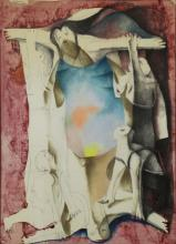 BRODERSEN, Morris. Mixed Media. Untitled (Figural