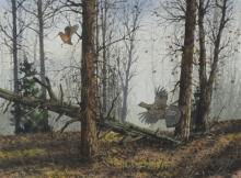 HAGERBAUM, David. Watercolor on Paper. Woodland