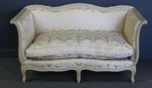 Louis XV Style Paint Decorated and Down Filled