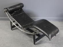 MIDCENTURY. Corbusier Style Leather Upholstered