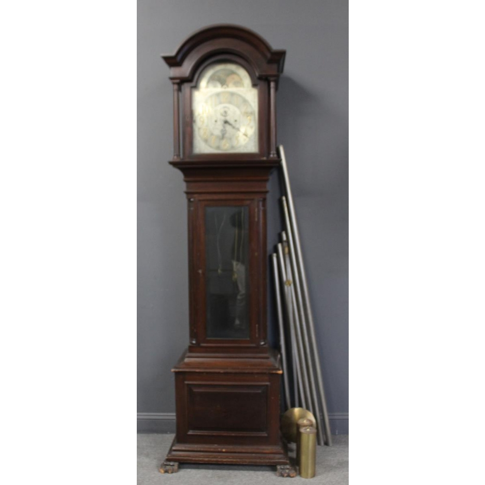 Bailey Banks Biddle Mahogany Tallcase Clock