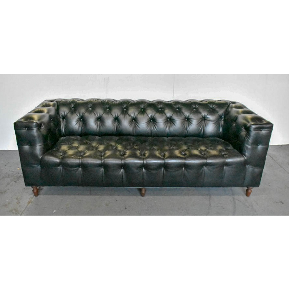 leather chesterfield style sofa. Black Bedroom Furniture Sets. Home Design Ideas