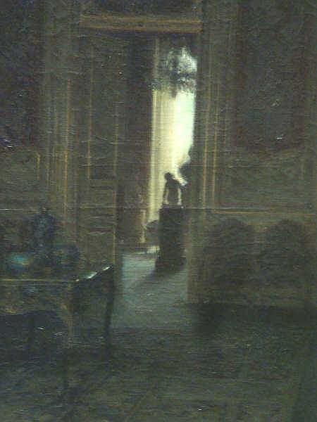 THOMAS, Paul. O/C of Elegant Shadowy Interior