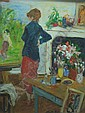 MOHR, Albert. O/C of Female Artist at Easel, Albert Mohr, Click for value