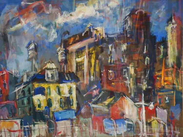 REDEIN, Alexander. Gouache City Tenements