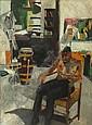 THOMPSON, Bob. 1960 O/C Self-Portrait in Studio, Bob Thompson, Click for value