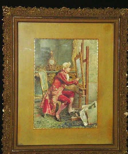 Simonetti Attilio W C Gentleman Artist At Easel