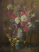 JUNGWIRTH, Josef. O/C Floral Still Life