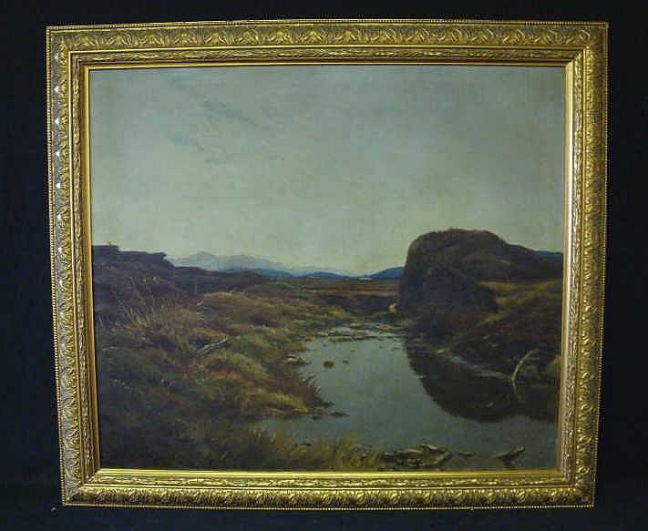 ARENDS, Emil. O/C landscape.
