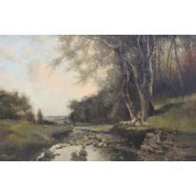 BRIGANTI, Nicolas. Oil on Canvas. Shepherd at