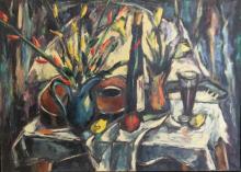 HARRY SHOULBERG? Signed Oil On Canvas Still Life.