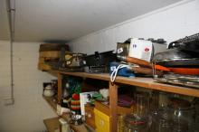 Complete Shelf Of Kitchen Gear & Large Bamboo Steamers