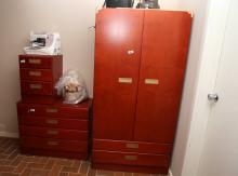 Berryman wardrobe & two chests of drawers