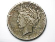 1922 US Liberty silver dollar