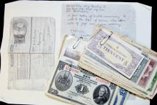 A collection of World War II currency returned to
