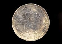 1936 Netherlands 2.5 Gulden Coin