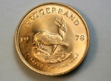 1978 Krugerrand gold coin