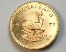 1977 Krugerrand gold coin