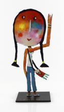 Christophe JEHAN (né en 1961) Cool Sculpture, huile vernie sur tôle découpé